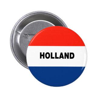 Bandera holandesa pin redondo de 2 pulgadas