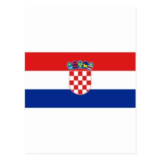 Bandera hora Hrvatska de Croacia Postal