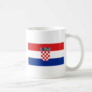 Bandera hora Hrvatska de Croacia Tazas De Café