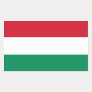 Bandera HU de Hungría Pegatina Rectangular