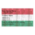 Bandera húngara de madera plantillas de tarjetas personales
