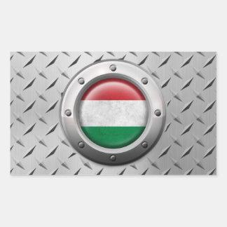 Bandera húngara industrial con el gráfico de acero rectangular altavoz