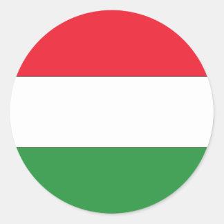 Bandera húngara pegatina redonda