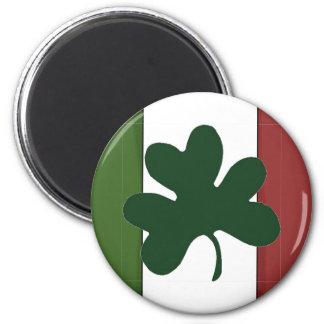 Bandera Imán-Irlandesa del trébol Imán Redondo 5 Cm