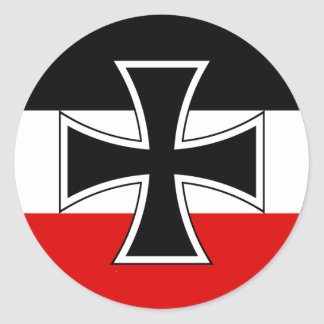 Bandera imperial alemana pegatina redonda