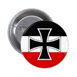 Bandera imperial alemana pin redondo de 2 pulgadas