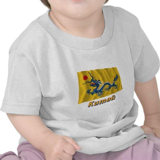 Bandera imperial de China que agita con nombre en  Camiseta