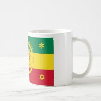 Bandera imperial de Etiopía - reinado de Haile Sel Tazas De Café