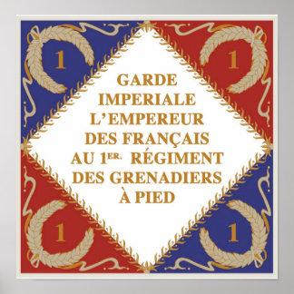 Bandera imperial del guardia poster
