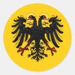 Bandera imperial del Sacro Imperio Romano Etiquetas Redondas
