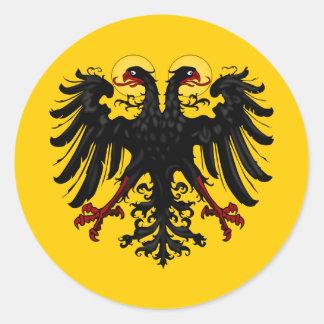 Bandera imperial del Sacro Imperio Romano Pegatina Redonda