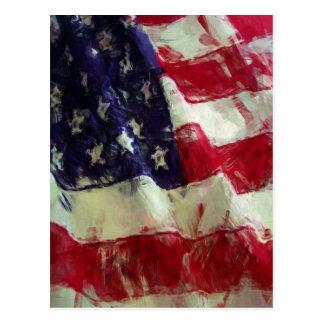 Bandera incompleta de los E.E.U.U. del estilo de Tarjetas Postales