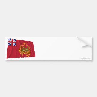 Bandera independiente de Batallion del procurador Pegatina De Parachoque