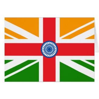 Bandera india Anglo Tarjeton
