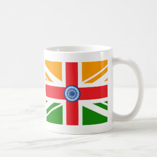 Bandera india Anglo Taza Clásica