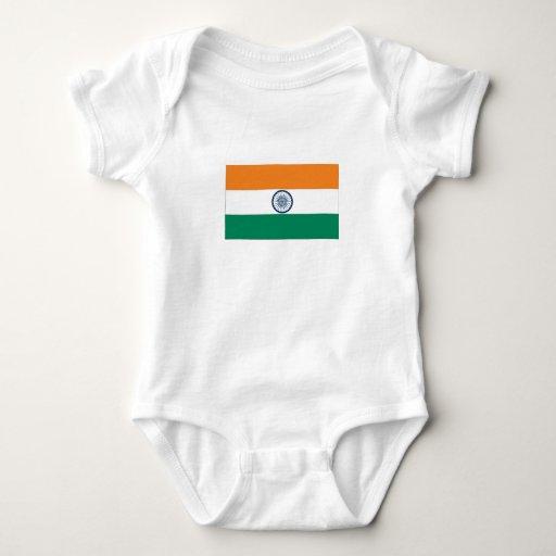 Bandera india body para bebé