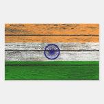 Bandera india con efecto de madera áspero del rectangular altavoz