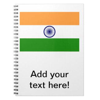 Bandera india cuaderno