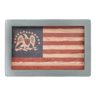 Bandera india de la paz hebilla de cinturon rectangular