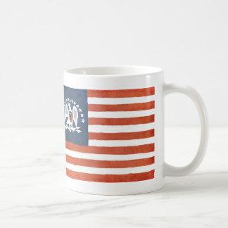 Bandera india de la paz taza de café
