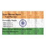 Bandera india de madera tarjeta de visita