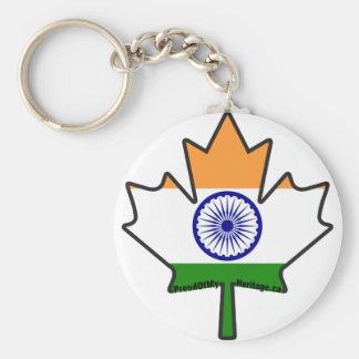 Bandera india en artículos canadienses de la hoja llavero redondo tipo pin
