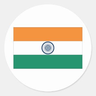 Bandera india pegatina redonda