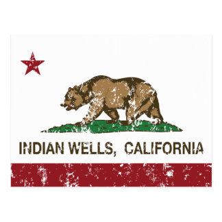 Bandera Indian Wells de la república de California Tarjetas Postales