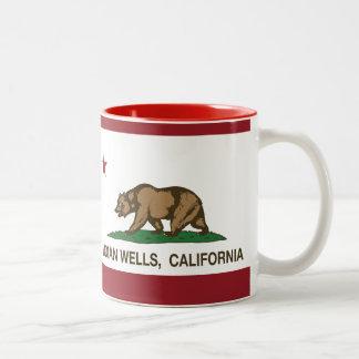 Bandera Indian Wells de la república de California Taza De Café De Dos Colores