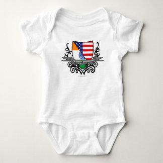 Bandera Indio-Americana del escudo Body Para Bebé