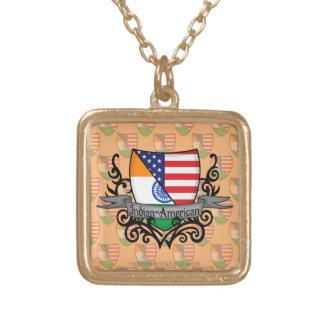 Bandera Indio-Americana del escudo Pendientes
