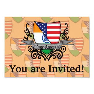 """Bandera Indio-Americana del escudo Invitación 5"""" X 7"""""""