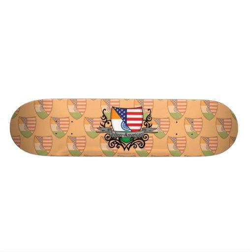 Bandera Indio-Americana del escudo Tabla De Skate