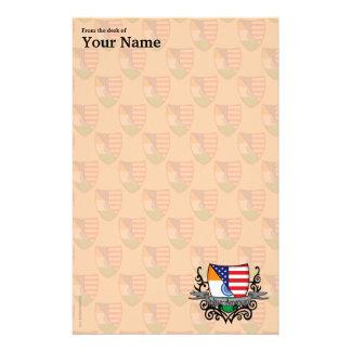 Bandera Indio-Americana del escudo Personalized Stationery