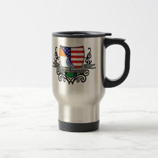 Bandera Indio-Americana del escudo Taza Térmica