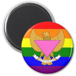 Bandera indonesia del orgullo de GLBT Iman De Frigorífico