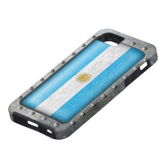 Bandera industrial de Argentina Funda Para iPhone 5 Tough