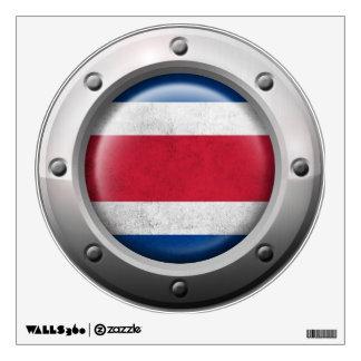 Bandera industrial de Costa Rica con el gráfico de