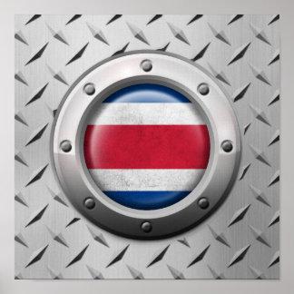 Bandera industrial de Costa Rica con el gráfico de Posters