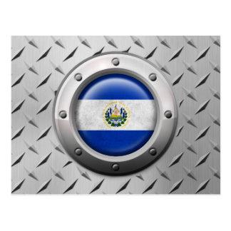 Bandera industrial de El Salvador con el gráfico Postales