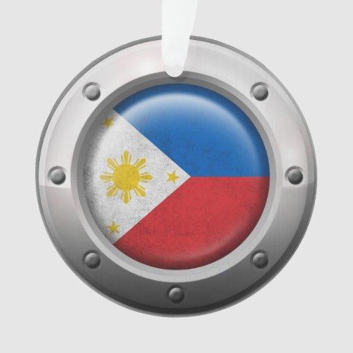 Bandera industrial de Filipinas con el gráfico de