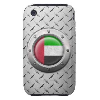 Bandera industrial de los UAE con el gráfico de ac iPhone 3 Tough Cárcasas