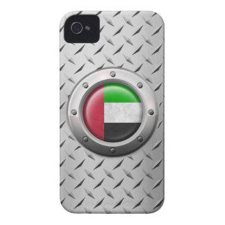 Bandera industrial de los UAE con el gráfico de ac iPhone 4 Carcasas