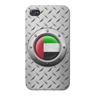 Bandera industrial de los UAE con el gráfico de ac iPhone 4/4S Fundas