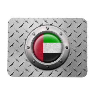 Bandera industrial de los UAE con el gráfico de ac Imán De Vinilo