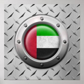 Bandera industrial de los UAE con el gráfico de ac