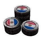 Bandera industrial de Paraguay con el gráfico de a Fichas De Póquer