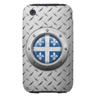 Bandera industrial de Quebec con el gráfico de ace Tough iPhone 3 Coberturas