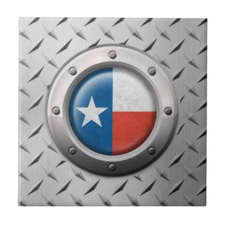 Bandera industrial de Tejas con el gráfico de acer