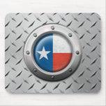 Bandera industrial de Tejas con el gráfico de acer Tapetes De Raton